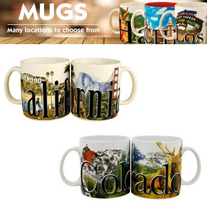 Americaware Color Relief Mugs