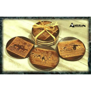 American Leather Works Coasters