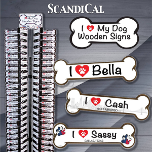 ScandiCal I Love My Dog Wooden Signs